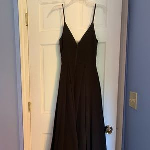 Black Gown with Bell Bottom